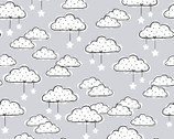 Comfy FLANNEL Prints - Clouds Grey from A.E. Nathan Company