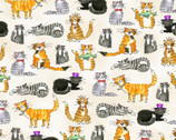 Comfy FLANNEL Prints - Cats Cream from A.E. Nathan Company
