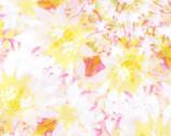 Garden In Summer - Yellow Pink Floral Daisy from EE Schenck Fabric