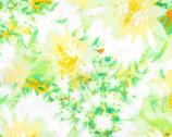 Garden In Summer - Green Yellow Floral Daisy from EE Schenck Fabric