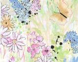 Garden In Summer - Floral Butterfly Soft Tones from EE Schenck Fabric