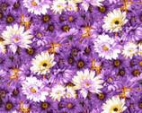 Princess Passion - Tonal Daisy Purple from EE Schenck Fabric