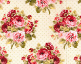 Stonehill - Rose Bouquet Dots from Fabric Traditions Fabric