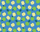 Feelin Fruity - Apples Blue by Vicky Yorke from Camelot Fabrics