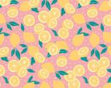 Feelin Fruity - Lemons Pink by Vicky Yorke from Camelot Fabrics