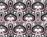 Bali Beauty - Paisley Medallion Grey Red from David Textiles Fabrics