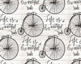 Beautiful Ride - Bicycle Cream from David Textiles Fabrics