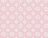 Garden Bloom - Flower Coins Pink from David Textiles Fabrics