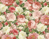 Lighthearted in Paris - Vintage Rose Bouquet from David Textiles Fabrics