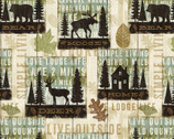 Lodge and Cabin - Simple Living Signs from David Textiles Fabrics