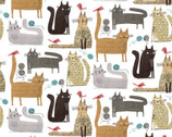 It's Raining Cats and Dogs - Cats At Play Text White by Terry Runyan from Contempo Studio