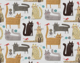 It's Raining Cats and Dogs - Cats At Play Text Grey by Terry Runyan from Contempo Studio