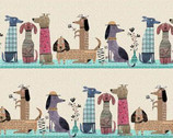It's Raining Cats and Dogs - Dogs Together Stripe by Terry Runyan from Contempo Studio
