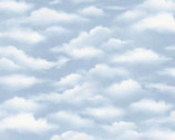 Sky Clouds Light Blue from Wilmington Fabric
