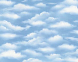 Sky Clouds Dark Blue from Wilmington Fabric