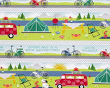 Adventure Time - Repeating Stripe Multi from Wilmington Fabric