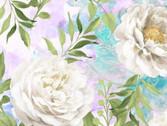 Wild Blush - Peonies White from Wilmington Fabric