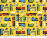 All Aboard with Thomas and Friends - Sodor Yellow from Riley Blake Fabric