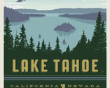 Destinations - Lake Tahoe Poster Panel 36 Inches from Riley Blake Fabric