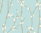 Willow - Pussy Willow Light Teal from Andover Fabrics