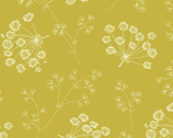 Solstice - Dried Flowers Spanish Moss Yellow from Andover Fabrics