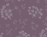 Solstice - Dried Flowers Amethyst Purple from Andover Fabrics