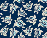 By The Sea - Sea Turtle Navy from Andover Fabrics