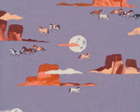 Arid Wilderness - Moonlit Mustang by Louise Cunningham from Cloud 9 Fabrics