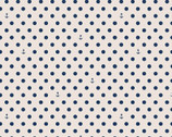 Harry and Alice Go to the Sea - Polka Dots Navy on Cream from Riley Blake Fabric