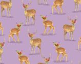 Wanderers Weekend - Floral Fawns Lavender by Whistler Studios from Windham Fabrics
