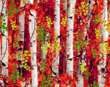 Nature - Birch Forest Leaves from Timeless Treasures Fabric