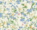Nostalgic Garden - Wildflower Toss Pale Yellow from Elite Fabric