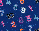 Numbers In The Jungle - Numbers Blue from Henry Glass Fabric