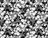 Poppy Promenade - Mini Flower Dance Pearlescent  Grey from Kanvas Studio Fabric