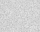 Poppy Promenade - Petite Pearl Ferns Pearlescent Light Grey from Kanvas Studio Fabric