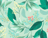 Fresh Meadow - Spring Garland Minty Green from Clothworks Fabric