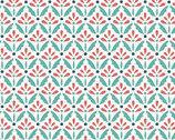 Home Grown - Floral Sprig  Multi Teal Red  from Benartex Fabrics