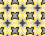 Limoncello Pearl - Geometric Star Yellow Gray from Kanvas Studio Fabric