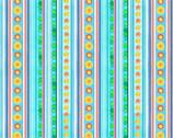 Little Mermaids - Stripes Shells by Nicole in den Bosch from Elizabeth's Studio Fabric