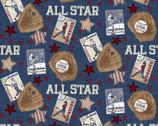 Game Time - All Star Cards Blue by Skyline Studio from Benartex Fabrics