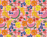 Food Face - Fruits Pink by Corinne Lent from Paintbrush Studio Fabrics