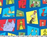 Celebrate Seuss - Characters Framed Window Blue by Dr. Seuss from Robert Kaufman Fabric