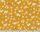 Rayon Crinkle - Little Flower Bundles Toss Mustard by Sunset Studio from Robert Kaufman Fabric