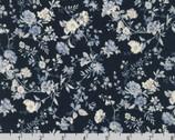 English Garden - Little Floral Vine Navy Blue by Sevenberry from Robert Kaufman Fabric