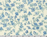 English Garden - Little Floral Vine Blue on Natural by Sevenberry from Robert Kaufman Fabric