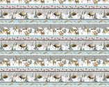 Snowy Woods - Scenic Stripe Multi from Henry Glass Fabric