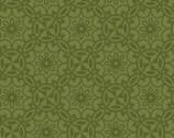 Home Grown - Medallion Floral Green from Benartex Fabrics