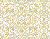 Words to Live By - Medallions Lace Mustard Yellow from Benartex Fabrics