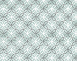 Words to Live By - Trellis Medallion Turquoise from Benartex Fabrics