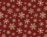 A Jingle Bell Christmas - Crossroads Snowflake Red from Benartex Fabrics